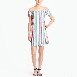 Striped off-the-shoulder J.Crew dress